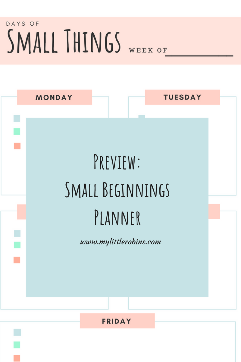 Small Beginnings #Charlottemason #earlyyears planner