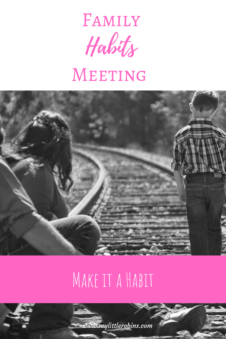 Weekly family habits meetings can help you make habit training a habit. #charlottemason