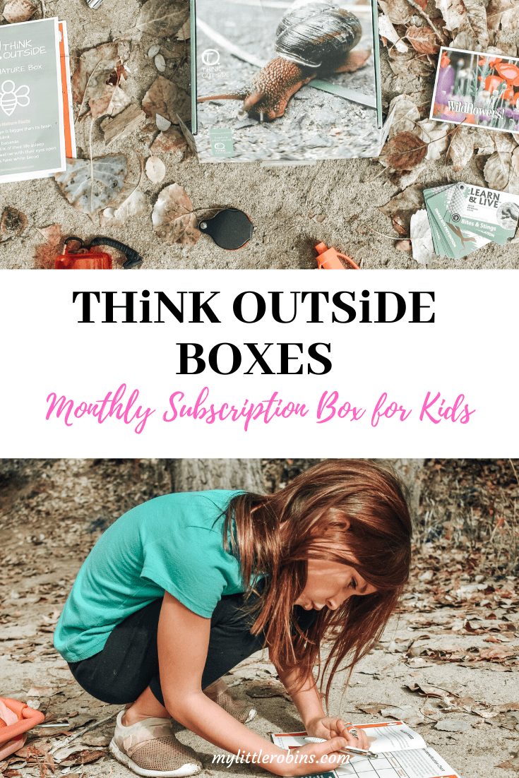 THiNK OUTSiDE BOXES:  A nature oriented subscription box for the outdoorsy kid.