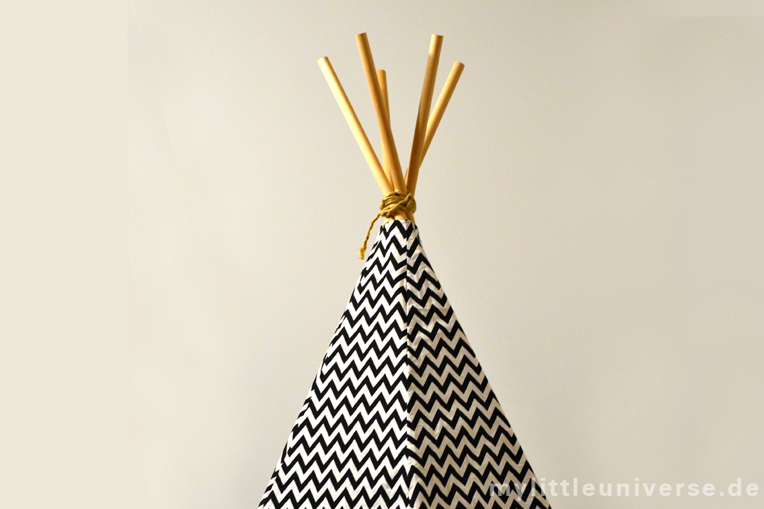 schnelles tipi zum selber bauen. Black Bedroom Furniture Sets. Home Design Ideas