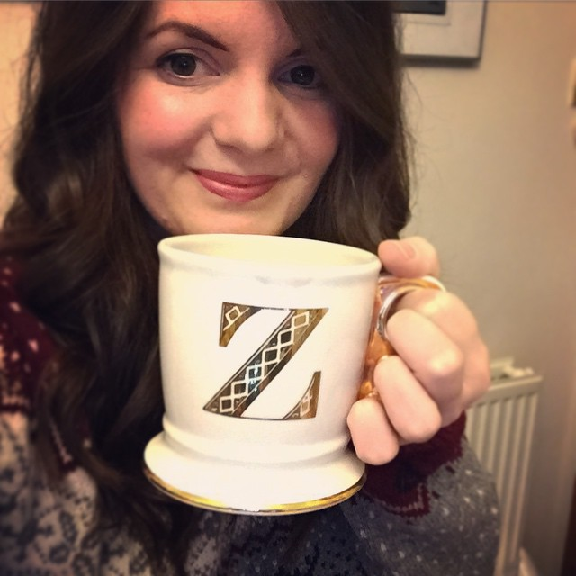 10/365 I always clear my Christmas decorations a few days before new year, not quite ready to let go of my @anthropologie Christmas mug yet. I was in need of a very large cup of tea! It's super rare to find a 'Z' on anything!