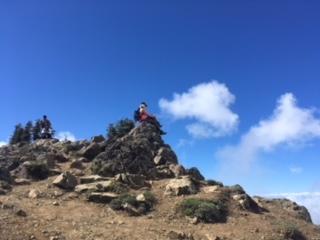 On the peak of Hurricane Hill hike