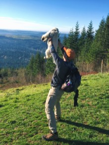 Lion King moment with our friend's dog.