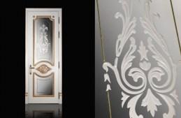 21 Door Series Golden Model P-18 Glass ακριβές σκαλιστές πόρτες αρχοντικά Loft mylofteu