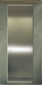 Grey steel surface sliding door συρόμενη inox εσωτερική πόρτα Loft mylofteu