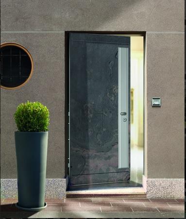Petra door covered with natural stone πόρτα ασφαλείας με πέτρα Loft mylofteu