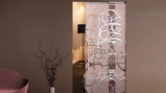Double sliding one way crystal door κρυστάλλινες πόρτες LOFT mylofteu