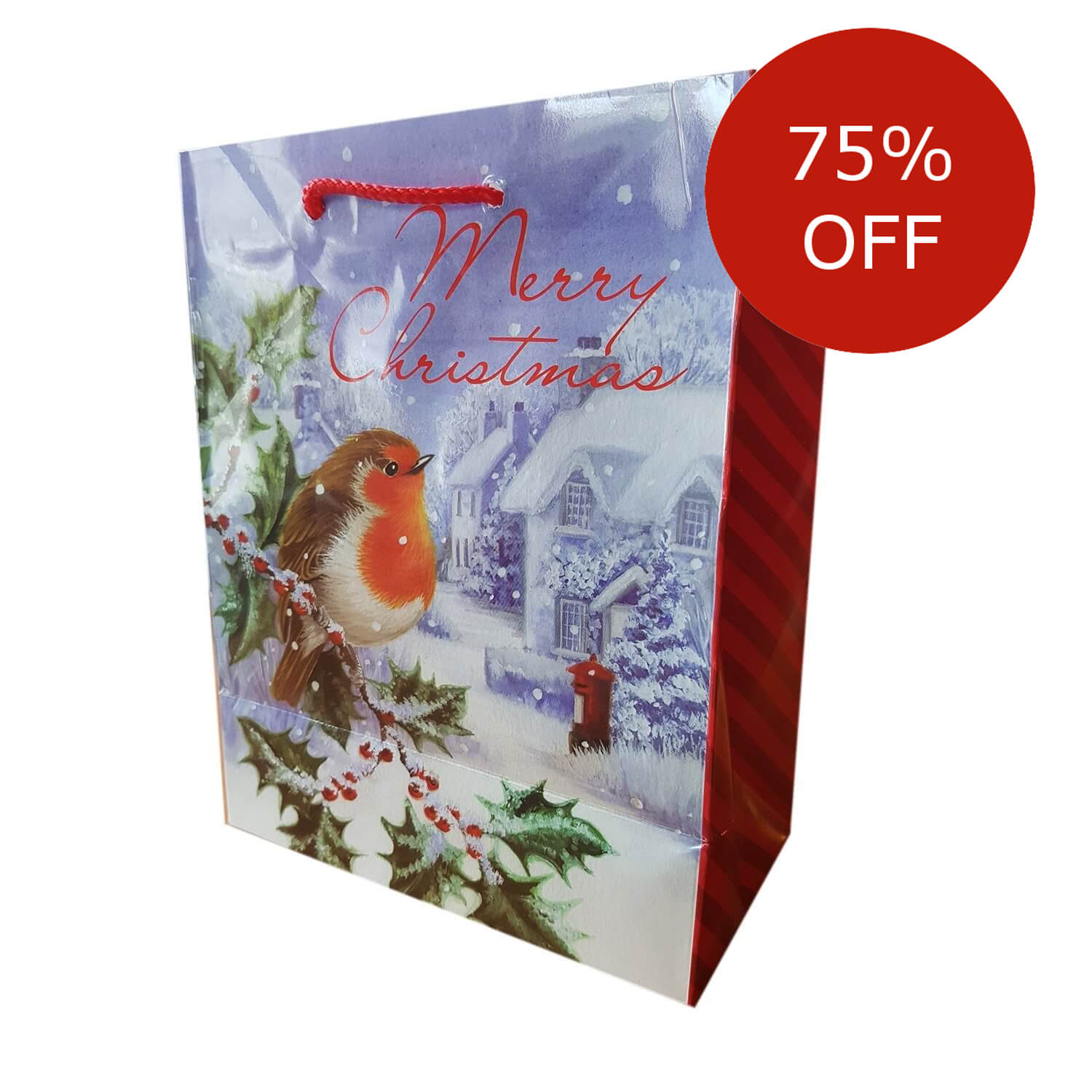 Christmas Robin Gift Bag Discount