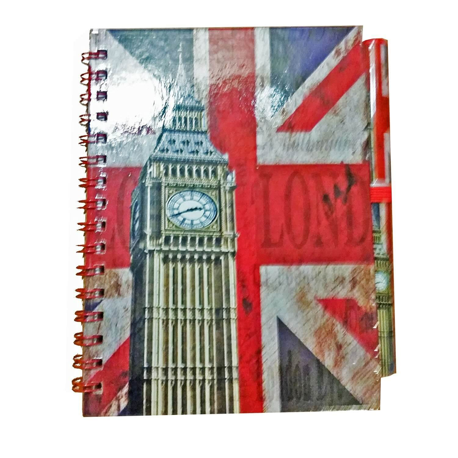 Big Ben Union Jack Notebook and Matching Pen