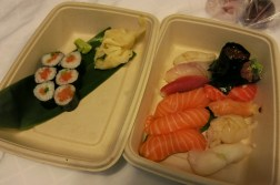 Had dinner at 5pm.. So we went to a nearby sushi place to buy takeaway. High quality sushi, with a range of fish to choose from. highly recommend!! --> Sushi Sho (Drawback: half an hour wait even for takeaway)