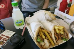 Gyro with chicken