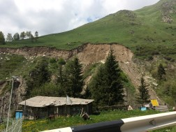 Landslides because of the storm two weeks ago