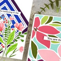 Pinkfresh Studio: Modern Floral Thank You Cards