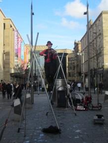 Busker, Sauchiehall Street, Glasgow