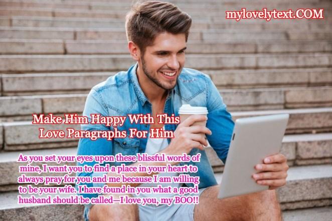 Love Paragraphs For Him