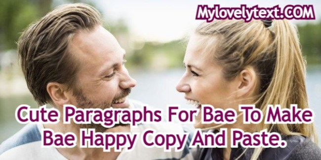 Paragraphs For Bae