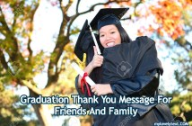 Graduation Thank You Message