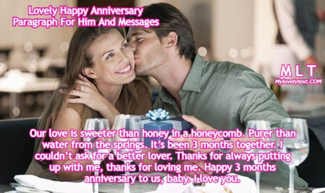 Anniversary Paragraph For Him