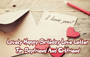 Happy Birthday Love Letter