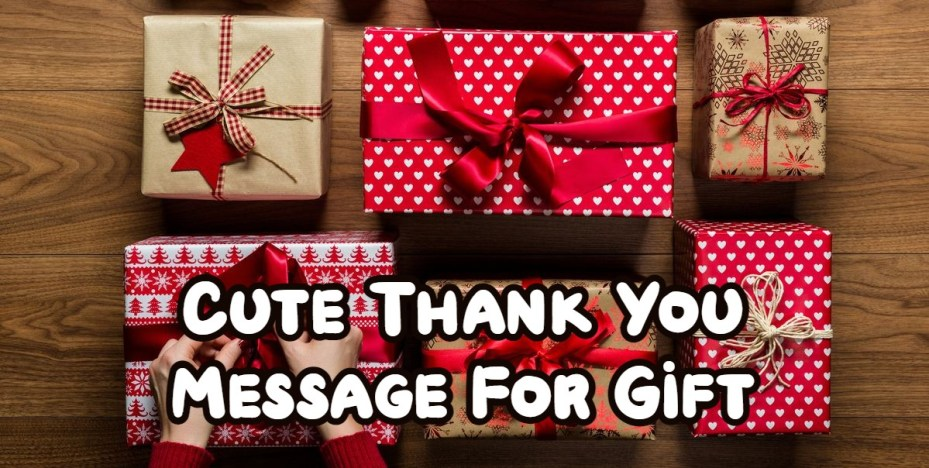 Cute Thank You Message For Gift
