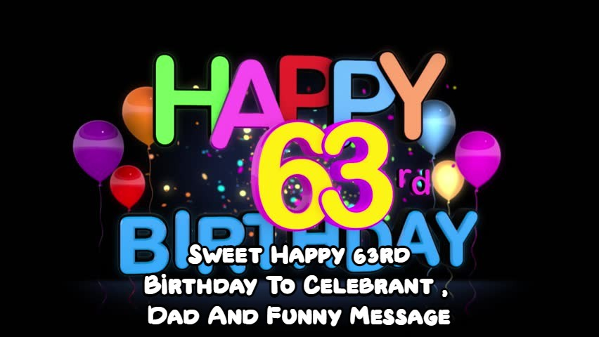 Happy 63rd Birthday