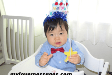 Happy 1st Birthday to My Son Message