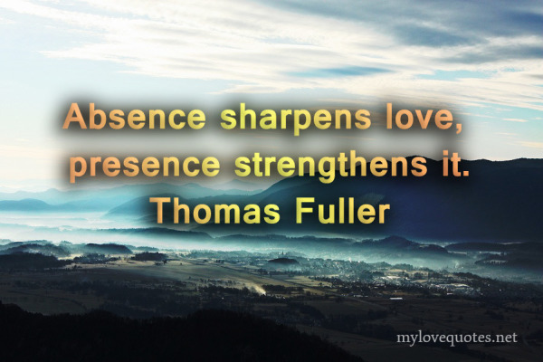 absence sharpence love presence