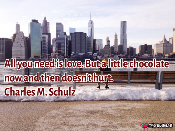 all you need is love but a little chocolate