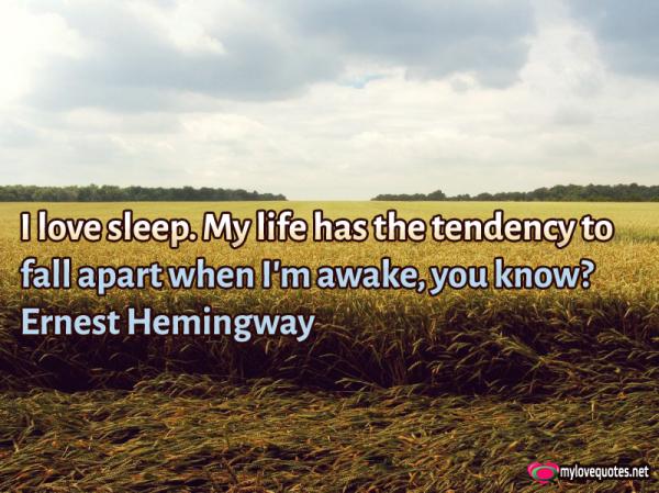 i love sleep my life has the tendency to fall apart