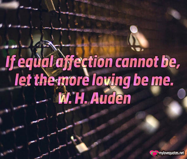 if eqaul affection cannot be