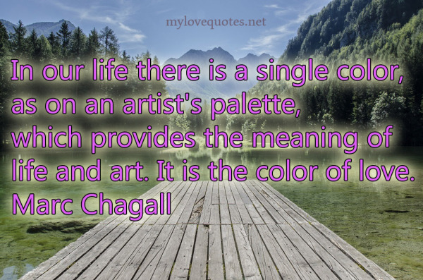 in our life there is a single color