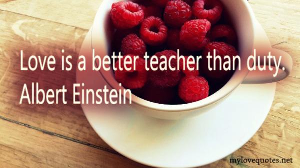 love is a better teacher than