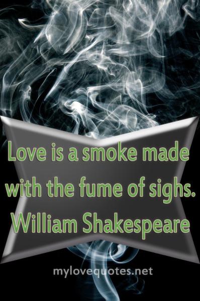 love is a smoke