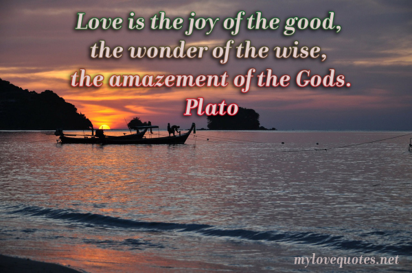 love is the joy of the good