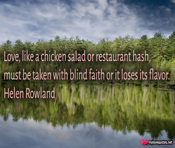 love like a chicken salad or restaurant hash