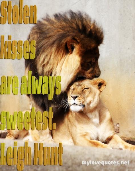 stolen kisses are always sweetest