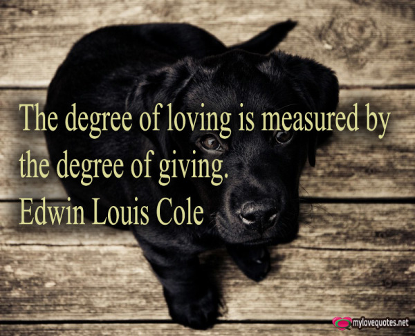 the degree of loving is measured