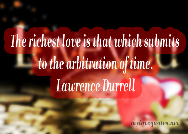 the richest love is that which submits
