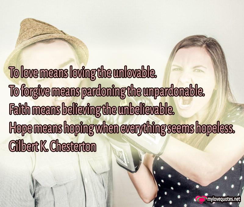 Unlovable definition