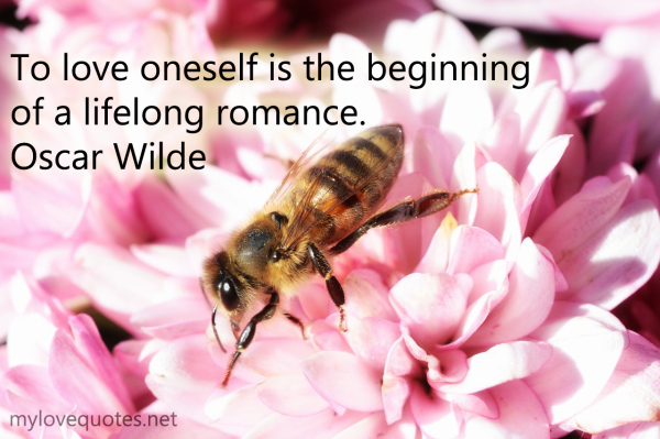 to love oneself is the beginning