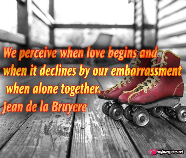 we perceive when love begins and when