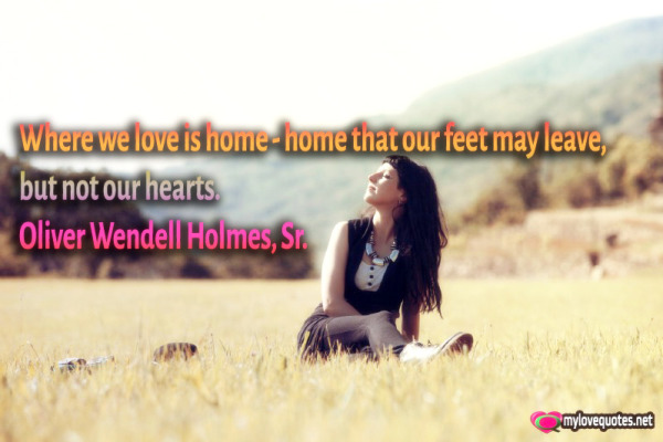 where we love is home home that our feet