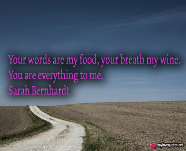 your words are my food your breath