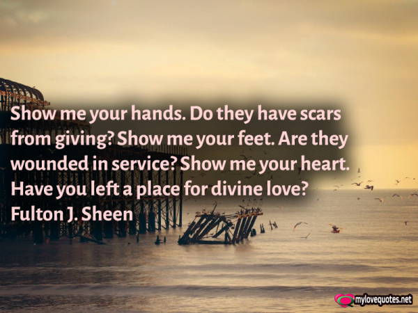 show me your hands do they have scars from giving