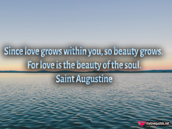 Love Is The Beauty Of The Soul Mylovequotesnet Cute Love Quotes