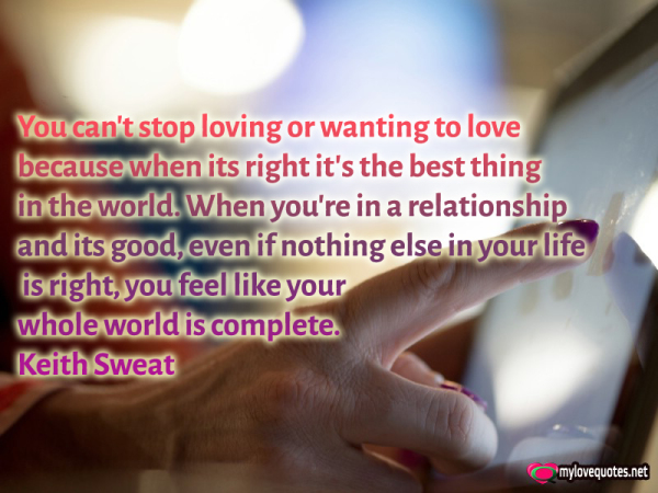 you can't stop loving or wanting to love