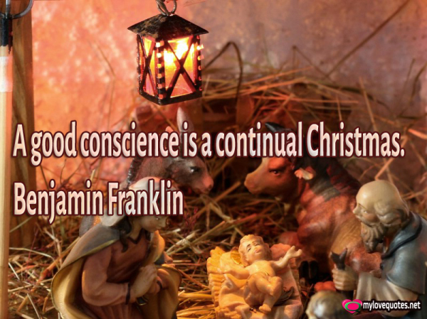 a good conscrience is a continual Christmas