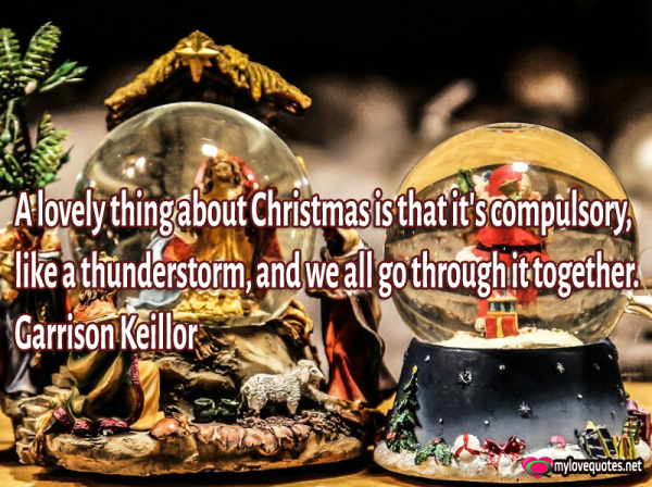 a lovely thing about christmas is that it's compulsory