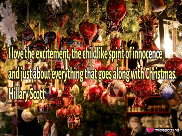 i love the excitement the childlike spirit of innocence