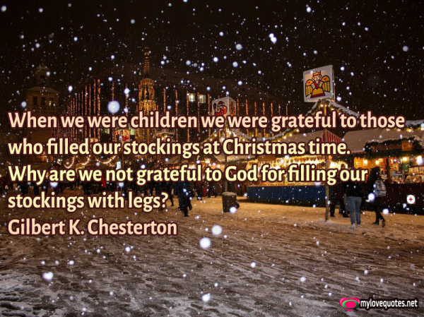 when we were children we were grateful to those who filled our stockings at christmas time